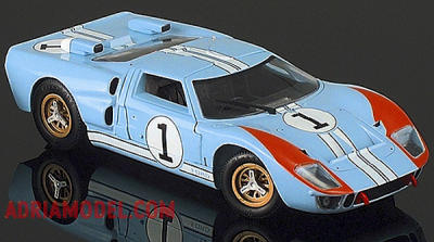 SCALA: 1:18 - UNIVERSAL H. - MOD.: FORD GT 40 N.1 - 2nd 24 Hours Le Mans 1966