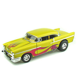 SCALA: 1:18 – HOT WHEELS – MOD.: CHEVROLET BEL AIR 1957 – Colore: GIALLO MET.