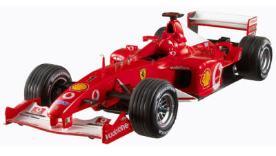 SCALA: 1:18 - HOT WHEELS - MOD.: FERRARI F2002 MICHAEL SCHUMACHER GP FRANCIA - Colore: ROSSO