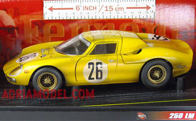 SCALA: 1:18 - HOT WHEELS - MOD.: FERRARI 250 LM - Colore:Giallo Racing